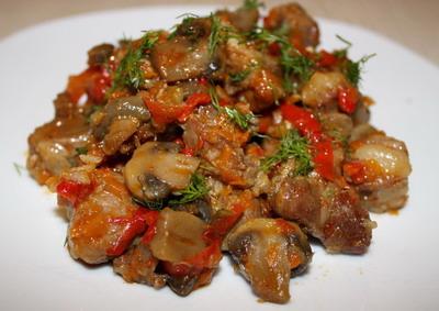 Баранина тушеная с овощами, Кафе Банкетный зал «Ирина»