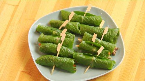 Зеленые спрингроллы с овощами и телятиной, суп томям. ТНТ-рецепты.