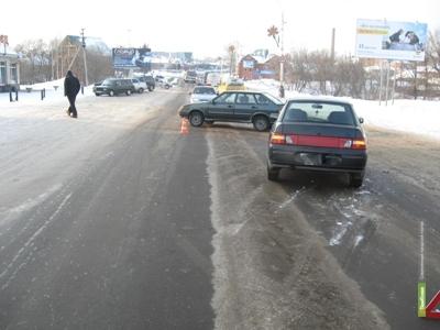 Автомобиль Богдан не поделил дорогу с ВАЗ 2114