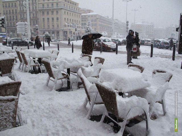 В Европу пришла зима