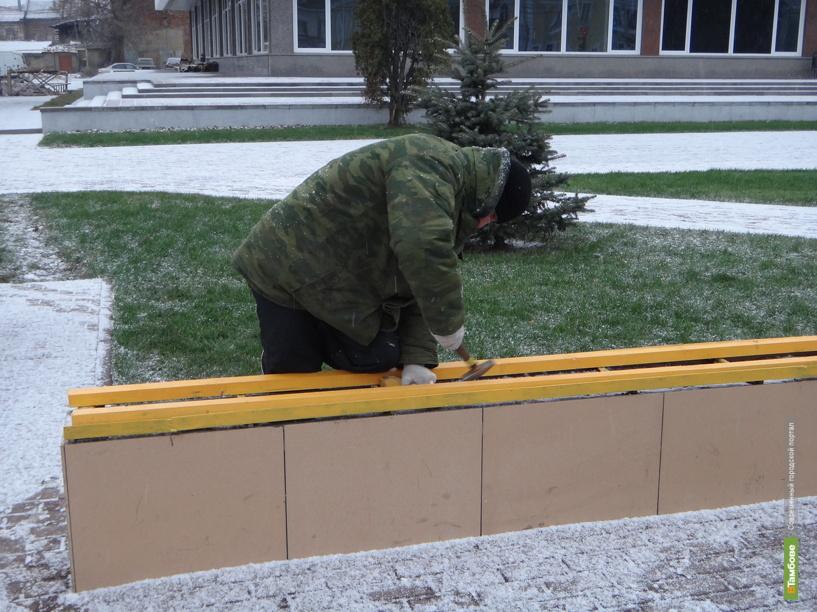 В Тамбове скамейки обзаведутся сиденьями только к началу зимы