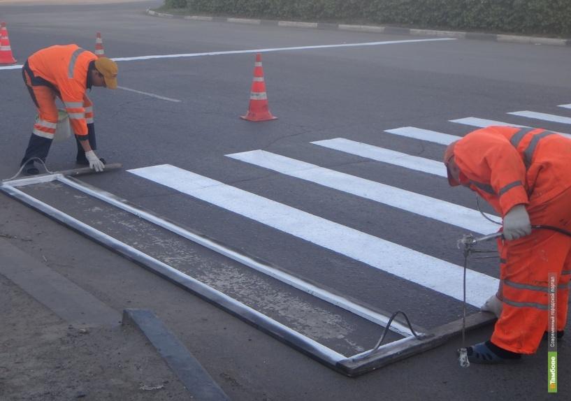 На дороги Тамбовщины нанесли 137 километров пластиковой разметки