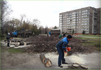 В парке Победы готовят место для будущего «Макдоналдса»
