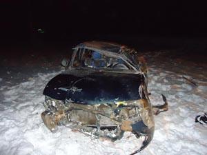 В Тамбовской области перевернулась иномарка