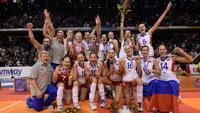 Российские волейболистки стали чемпионками Европы