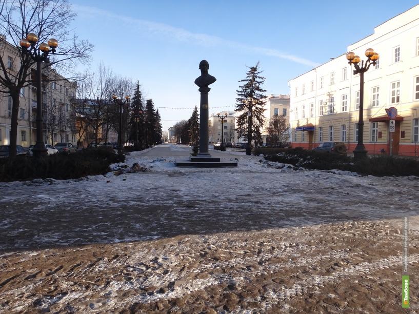 В Тамбове «заморозили» ремонт державинского сквера