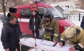 Спасатели потушили условный пожар в одной из больниц Тамбова