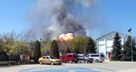 В украинском Краматорске взорвался вертолет Ми-8