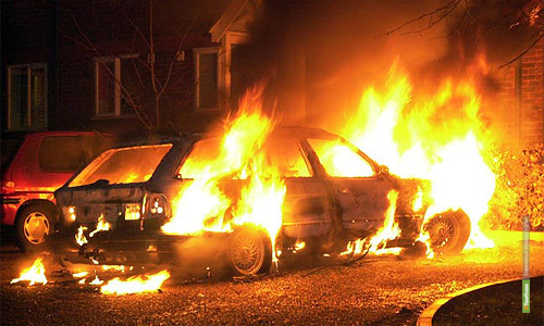 Под Тамбовом сгорело авто