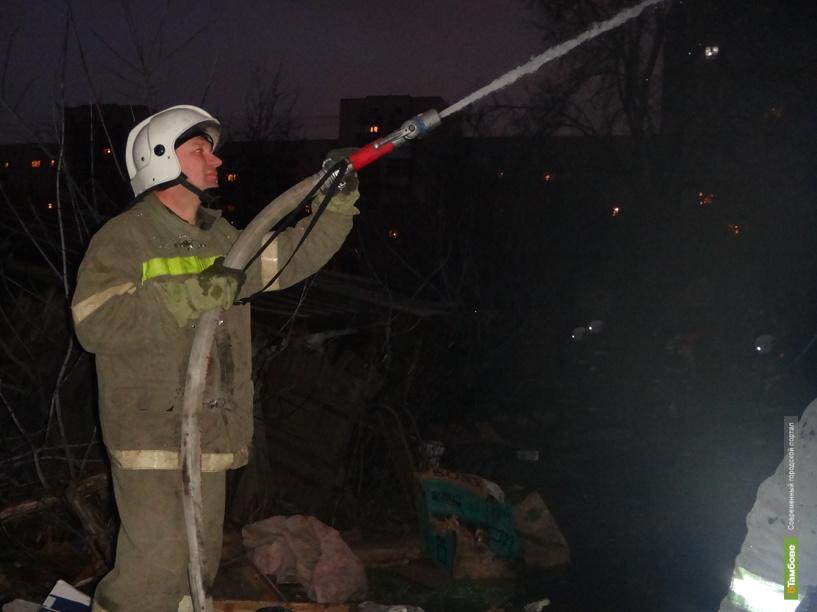 В центре Тамбова дотла сгорел двухэтажный дом