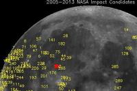 На Луну упал 40-килограммовый метеорит