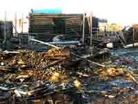 В Тамбове горят деревянные постройки