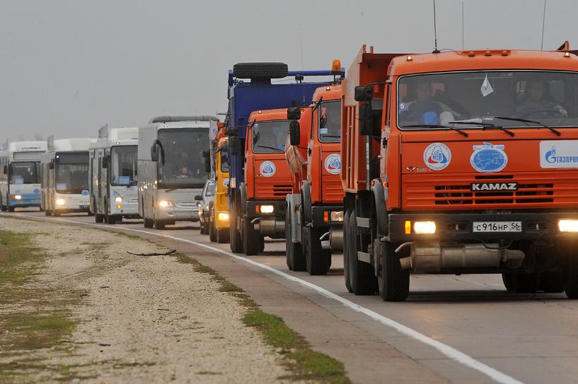 В Тамбовской области встретили юбилейный пробег на автомобилях КамАЗ