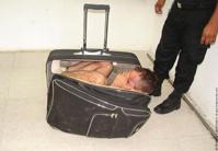 Жена гангстера попыталась вынести мужа из тюрьмы в чемодане