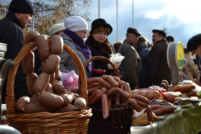 Питерцы заинтересовались тамбовскими колбасами и сырами