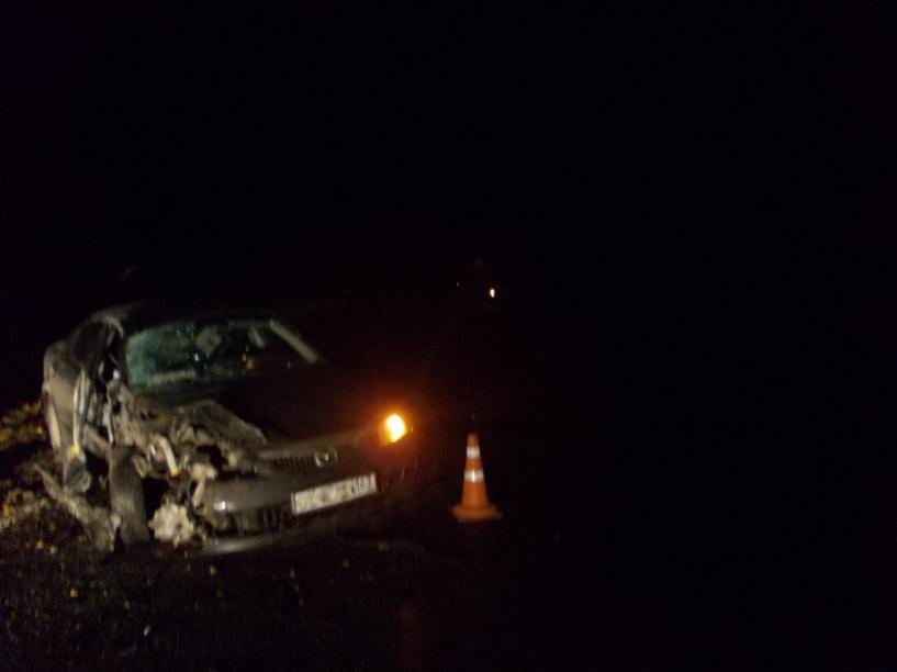 В Кирсановском районе Mazda6 врезалась в КамАЗ