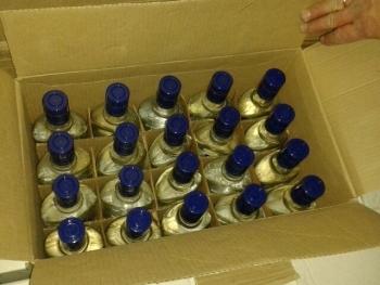 Из гаража тамбовчанки изъяли 358 бутылок «левого» алкоголя