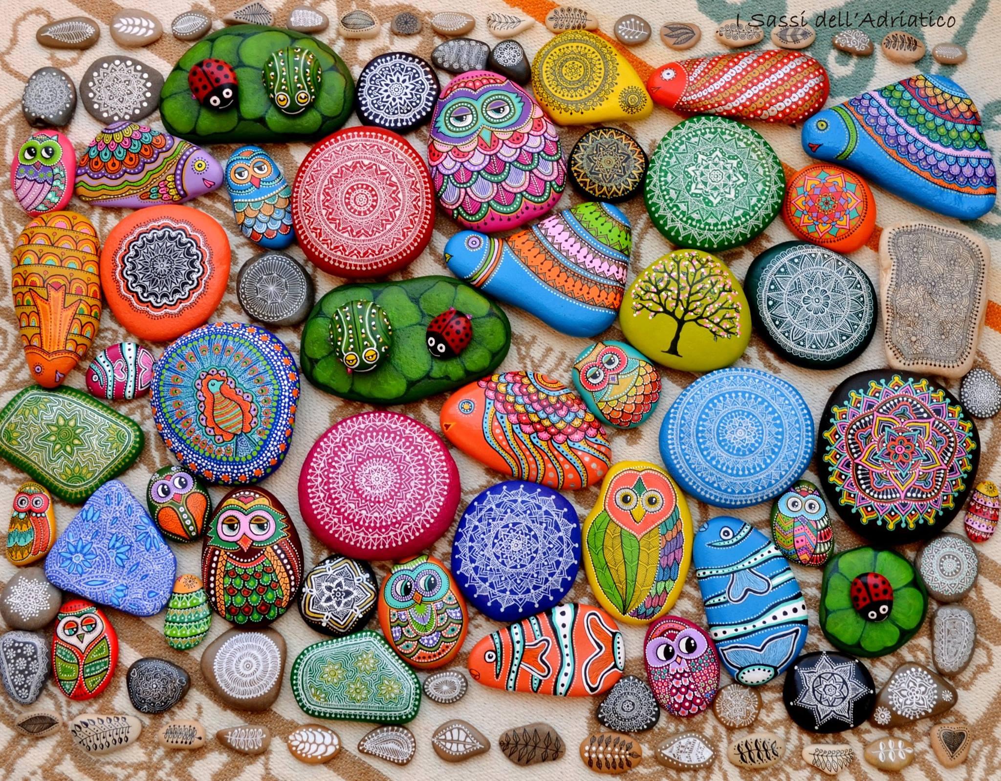 Рисунки на камнях для дачи фото 1 фотография