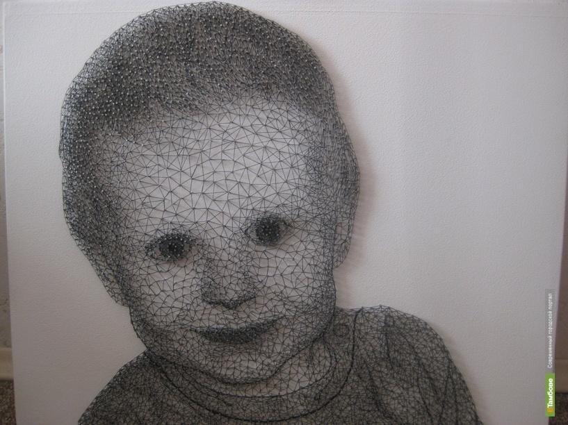 Творчество в новом проявлении: портрет из тысяч гвоздей и одной нитки