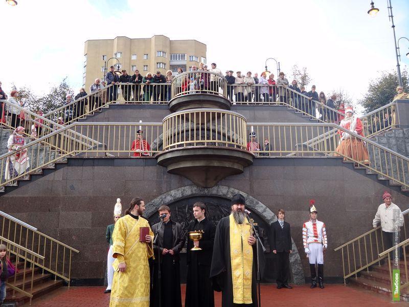 В тамбовский Парк Дружбы теперь ведет триумфальная лестница