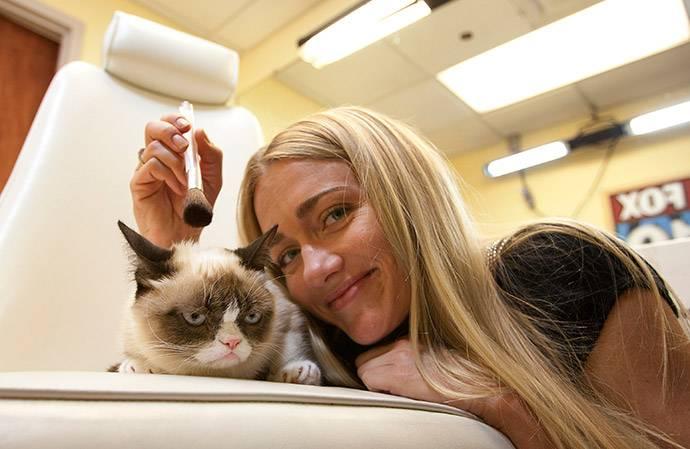 Знаменитая Grumpy Cat представила свою книгу «Руководство сердитой жизни»