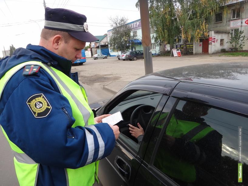 В Тамбове начался «отлов» не пристегнутых водителей