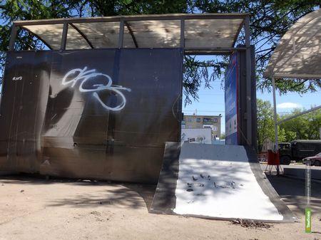 В Тамбове хулиганы подожгли автобусную остановку