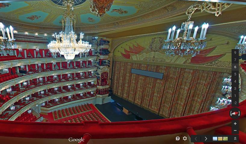 За кулисы, не выходя из дома: Google представил панораму Большого театра