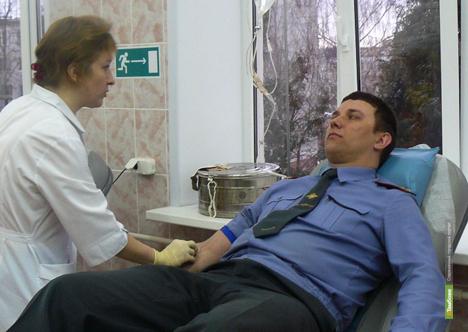 Тамбовские ДПС-ники поделятся кровью с пострадавшими в авариях