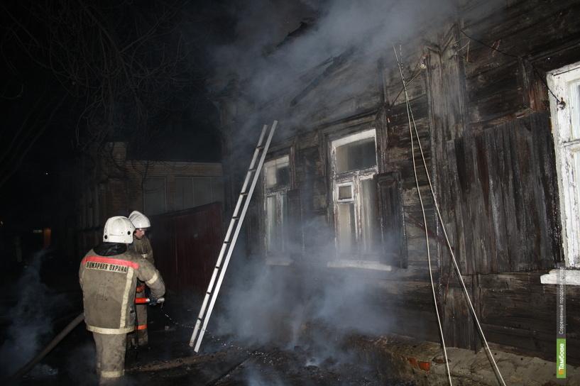 Житель Кирсанова пострадал на пожаре