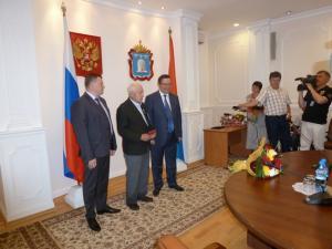 Патриоты Тамбовщины получили из рук губернатора заслуженные награды
