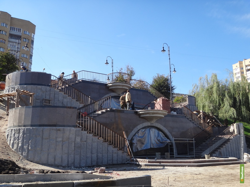 Спуск к Тезикову мосту в Тамбове откроют через 3 дня