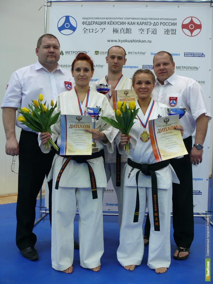 Тамбовские каратисты привезли из Москвы две золотые медали