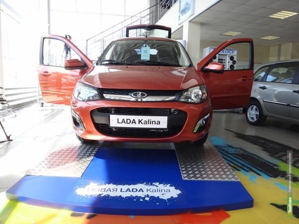 В Тамбове состоялась презентация автомобиля новая LADA Kalina (18+)