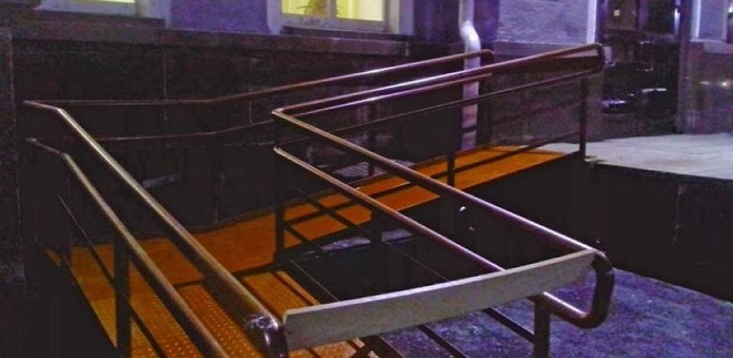 В Мичуринске на вокзале устроили слалом для инвалидов