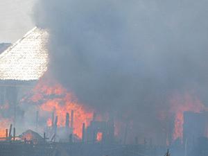 Под Тамбовом горела крыша суконной фабрики