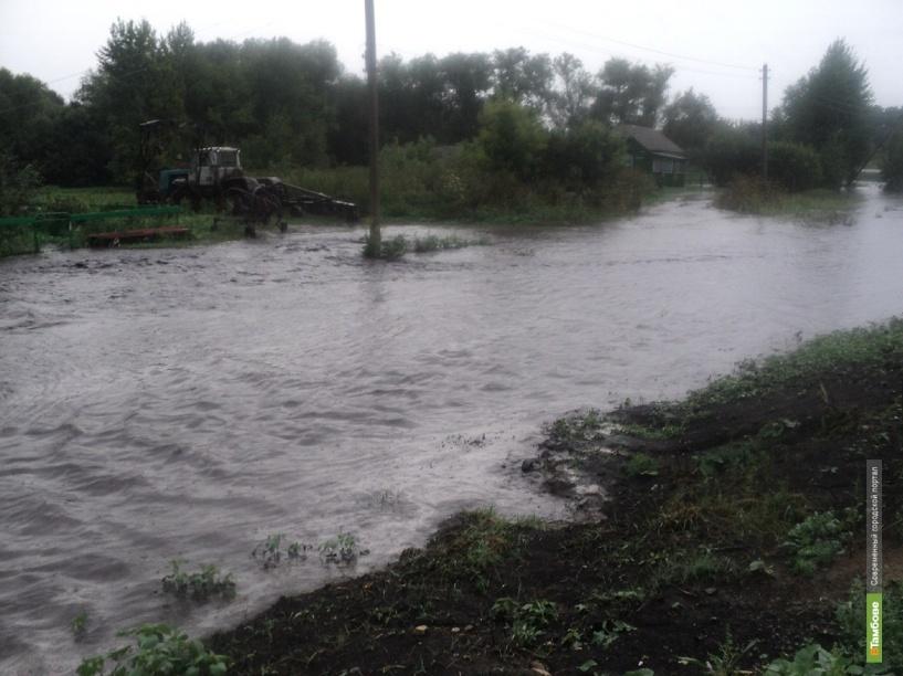 В Инжавинском районе во время дождя случился «потоп»