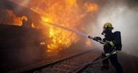 В Мичуринском районе загорелся вагон с серой