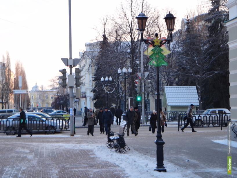 Тамбовский Арбат принарядили к Новому году