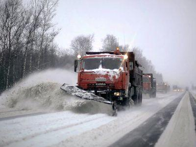 Федеральные трассы в Тамбовской области чистят от снега