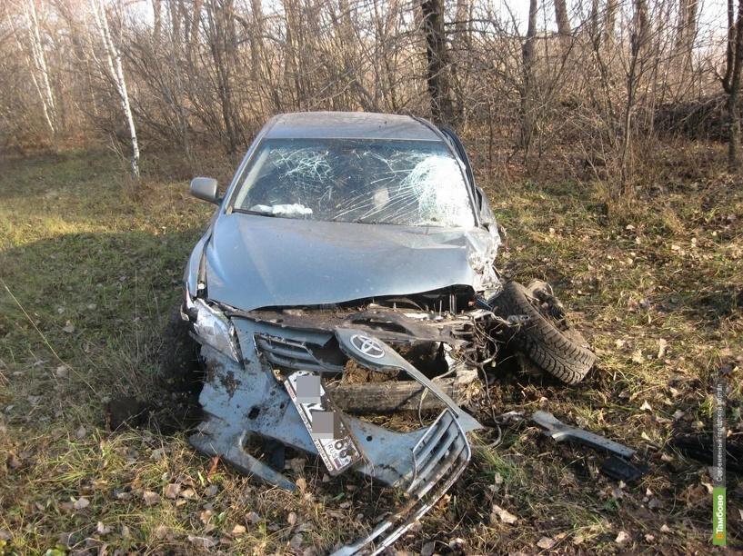 Два водителя не поделили тамбовскую дорогу