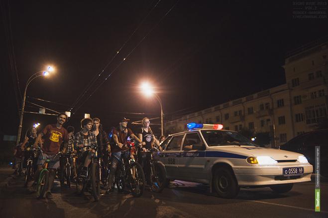 Велосипедисты Тамбова устроят очередной ночной заезд