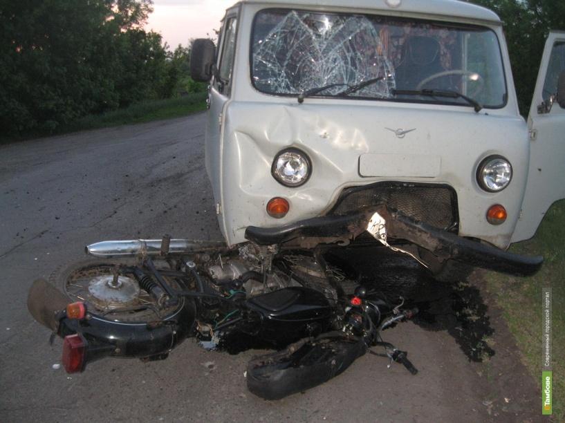 Мотоциклист попал под «буханку»