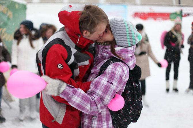 Мичуринцы встретят День влюблённых на катке
