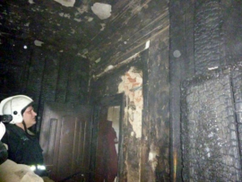 В Знаменском районе горел жилой дом: есть пострадавший