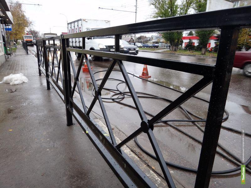 Тамбовские улицы украсят новые дорожные ограждения