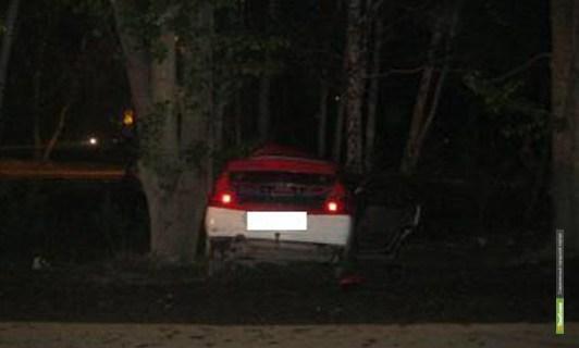 Тамбовчанка въехала в дерево на своём автомобиле