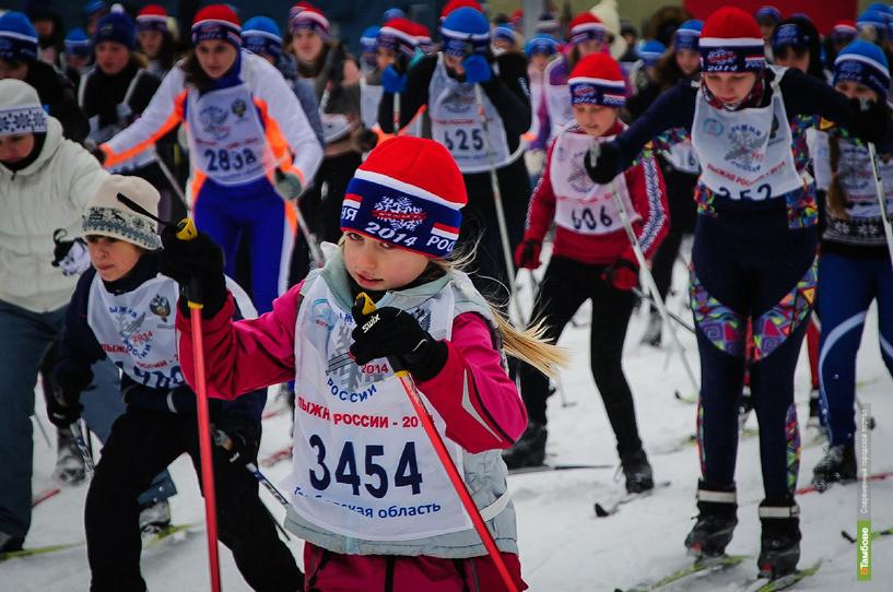 Четыре тысячи спортсменов из Тамбова и области приняли участие в Лыжне России
