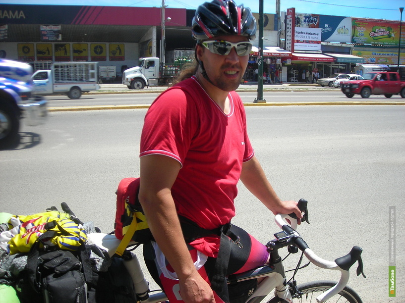 У тамбовского велосипедиста-кругосветника украли телефон