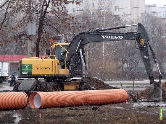 Завершается строительство канализационного коллектора на севере Тамбова